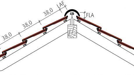Großfalzziegel Standard Z10 Beispiel Firstausbildung