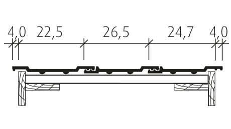 Großfalzziegel Standard Z10 Doppelwulst