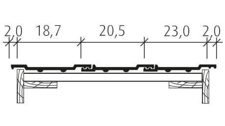 Standard Falzziegel Z7v Doppelwulst