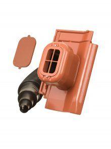 Sanitärlüfter mit Flexschlauch DN 125 für W6v Flachdachpfanne - Zubehör Dachziegel