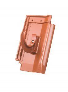 Rundholzhalterung mit Grundpfanne für W6v Flachdachpfanne - Zubehör Dachziegel