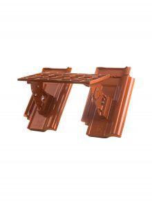 Kurzrost mit Grundpfannen für J13v Flachdachziegel - Zubehör Dachziegel