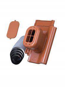 Sanitärlüfter mit Flexschlauch DN 125 für J13v Flachdachziegel - Zubehör Dachziegel