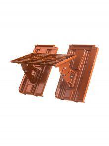 Kurzrost mit Grundpfannen für Großfalzziegel Doppelmulde D10 - Zubehör Dachziegel