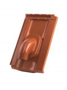 Solardurchgang mit Grundpfanne für Großfalzziegel Standard Z10 - Zubehör Dachziegel