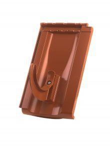 Rundholzhalterung mit Grundpfanne für Großfalzziegel Standard Z10 - Zubehör Dachziegel