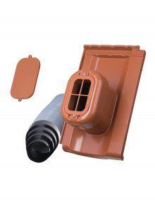 Sanitärlüfter mit Flexschlauch DN 125 für Großfalzziegel Standard Z10 - Zubehör Dachziegel
