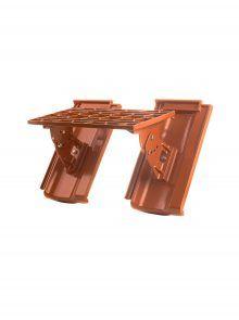 Kurzrost mit Grundpfannen für Standard Falzziegel Z7v - Zubehör Dachziegel