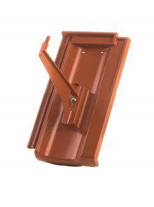 Schneefanggitterhalter mit Grundpfanne für Standard Falzziegel Z7v - Zubehör Dachziegel