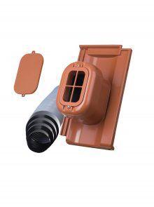 Sanitärlüfter mit Flexschlauch DN 125 für Standard Falzziegel Z7v - Zubehör Dachziegel