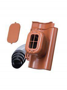 Sanitärlüfter mit Flexschlauch DN 125 für Hohlfalzziegel Z5 - Zubehör Dachziegel