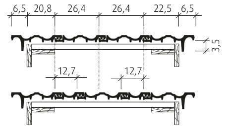 Großfalzziegel Doppelmulde D10 Ortgang