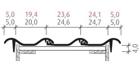 Flachdachziegel J11v Ortgang