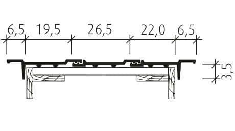 Großfalzziegel Standard Z10 Ortgang