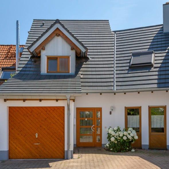 Flachziegel Walther Stylist Edelschiefer Einfamilienhaus