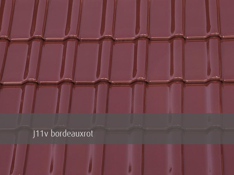 J11v bordeauxrot Glasur