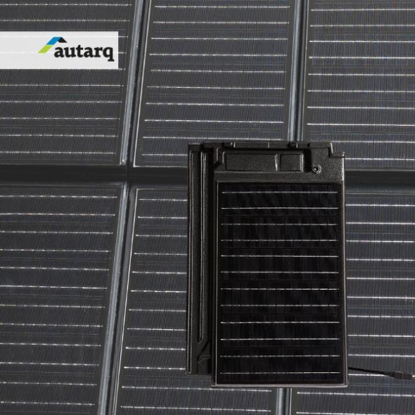 Solardachziegel Stylist-PV mit autarq
